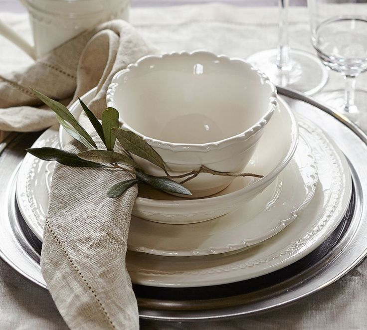 crockery olive leaf