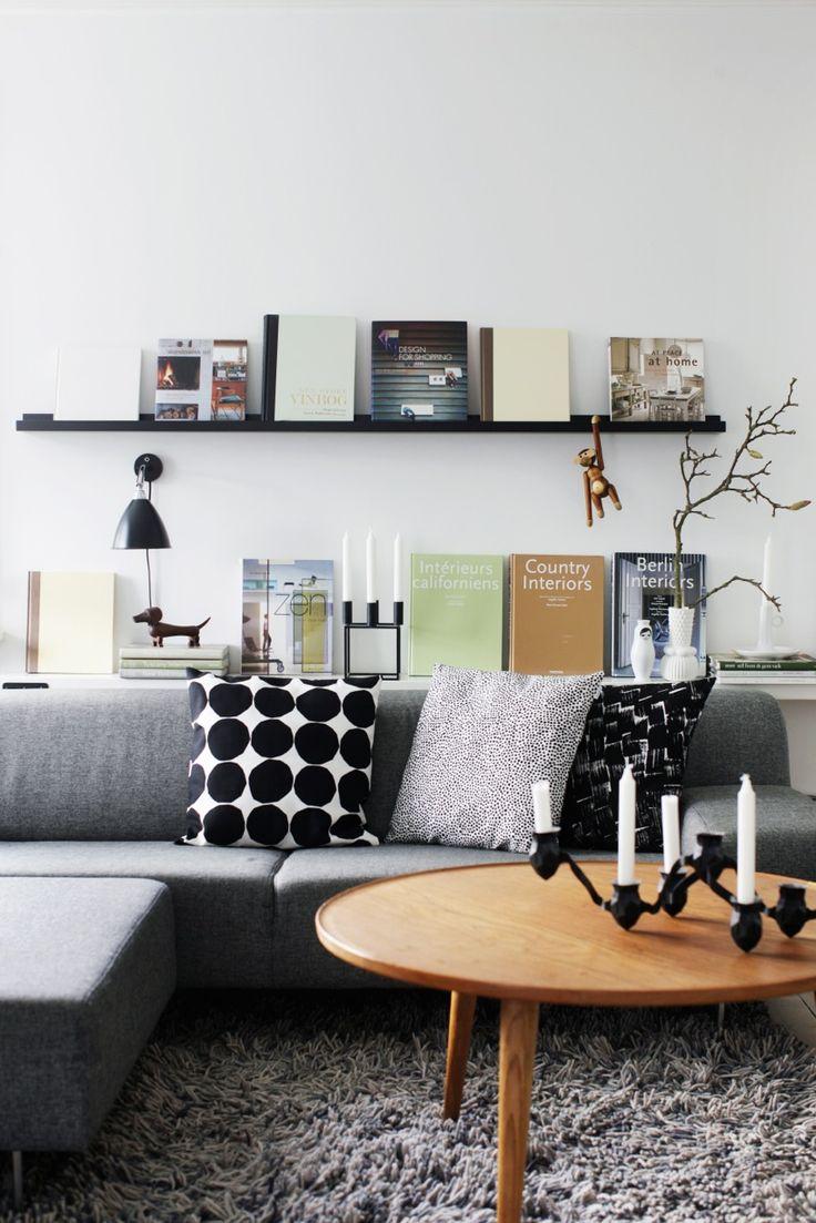 shelf behind couch best
